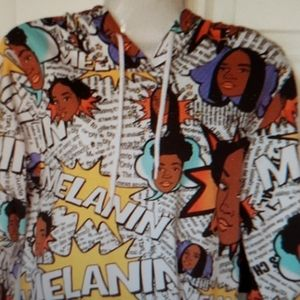 ON FIRE DESIGNER HOODIE WITH A COMIC FASHION WEAR